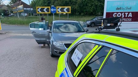 Police shocked on A1