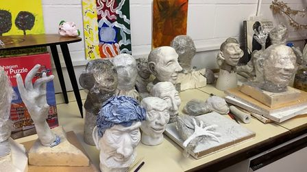 Sculptures created by members of Drawing Conclusions