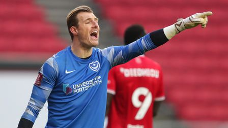 Portsmouth goalkeeper Craig MacGillivray during the Emirates FA Cup third round match at Ashton Gate