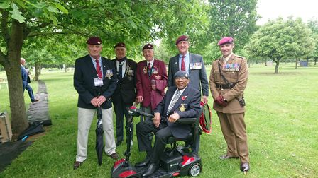 Gilbert Clarke with members of the Taxi Charity for Military Veterans