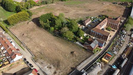 Aerial photo of the Maltings site facing south-east
