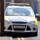 The police presence on South Market Road, Great Yarmouth.