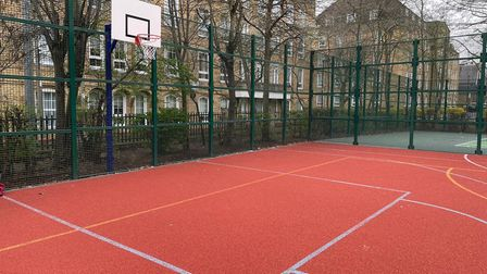 Basketball court in Wapping Gardens