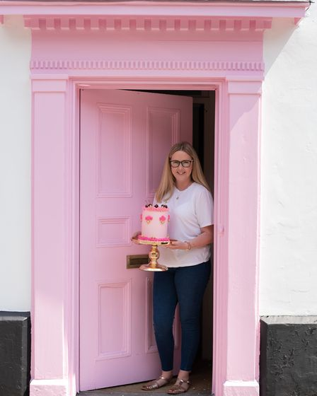 Rebecca Cockett is opening a new cake bar on Saxmundham High Street in July. Picture: Sarah Lucy Br