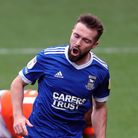 Ipswich Town's Gwion Edwards celebrates scoring his side's fourth goal of the game during the Sky Be