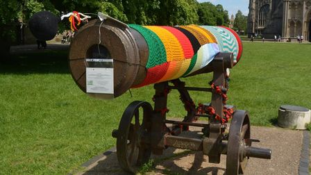 Ely Cathedral cannon yarn-bombing WI centenary