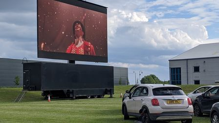 Musical favourite The Greatest Showman was one of the films shown at Ely's drive-in cinema.