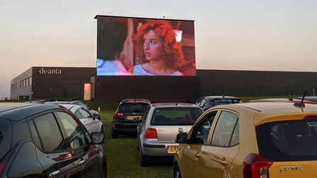 Dirty Dancing was shown as the evening finale at Ely's drive-in cinema.