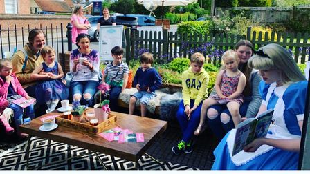 Alice in Wonderland read to children at Rumblebees in Felsted