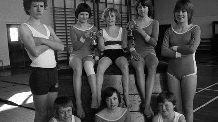 The Saxmundham Middle School Gymnastic Team pictured in March 1979. Who are these youngsters?EAD