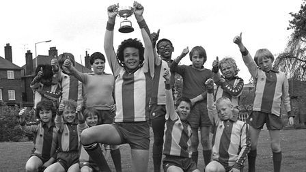 Kindred Spirits pix for July 3Celebration time for the Ranelagh Road School football team in 1979.