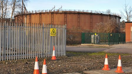 The gasometer as it looks today. Picture by SIMON FINLAY.