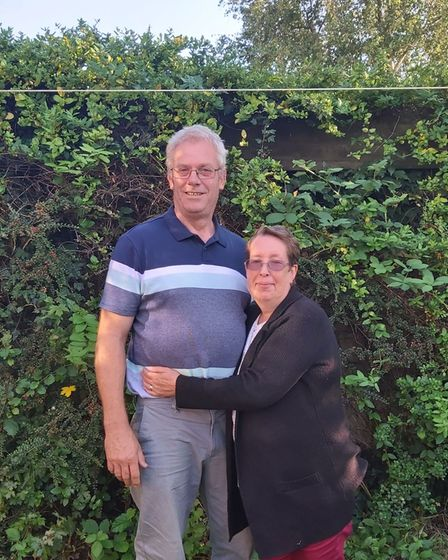 Phillip Christey, who has been thanked by daughter-in-law Hannah Sweeney this Father's Day, and wife Penny Christey.