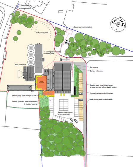 Plans for the redesign of Algy's Farm Shop