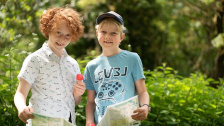Miles and Sidney enjoyed a morning of pond dipping at Clare Castle Country Park. Picture: Sarah Luc