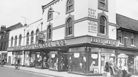 Henry Jarvis & Sons Ltd Department Store in St. Benedicts. The store ceased