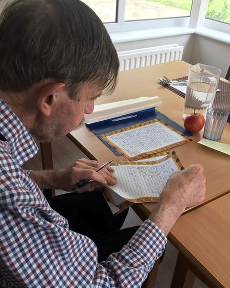 Nigel, a resident atChilton Meadows Bupa Care Home in Stowmarket, has rekindled his passion for education.