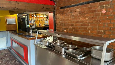 The Royal Standard carvery serving area