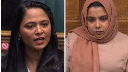 East End's two Labour MPs Rushanara Ali (left) at Bethnal Green & Bow and Apsana Begum in neighbouring Poplar & Limehouse.