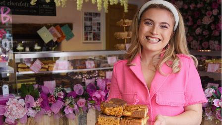 Morgan Lewis, 19, ready to open her new shop Bakeaholics in Attleborough.