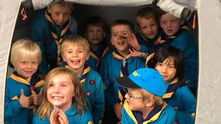 Sutton Scout Group members