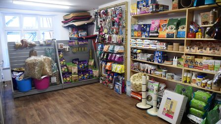 Laura has moved her pet shop in Halesworth to former news agents Picture: CHARLOTTE BOND