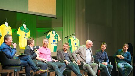 A star-studded panel including Bryan Gunn launched Tales From The City at Open. Pictures: Simon Gill