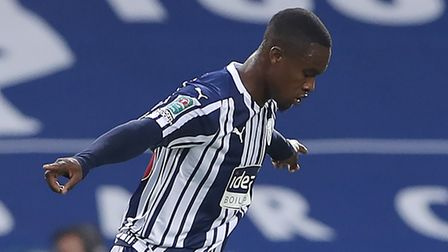 West Bromwich Albion's Rekeem Harper celebrates scoring his side's first goal of the game during the
