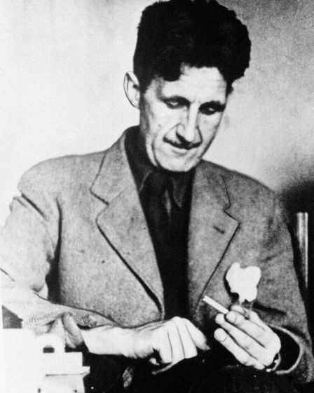 Undated file photo of George Orwell whose classic Nineteen Eighty-Four is to be dramatised by BBC ra