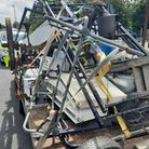 This unsafe load was pulled over on the A47 on Thursday.