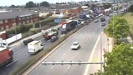 Traffic on the A13