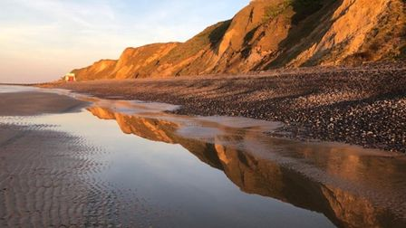 This was my walk on Sheringham beach on 15th April - easy to stay a safe distance from others when t