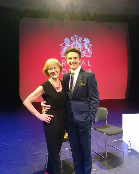 Christine Webber and Gary Avis at the Royal Opera House before the show on April 2. Picture: Christi