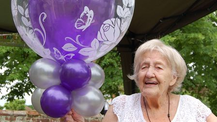 Florence Manly celebrates her 105th birthday