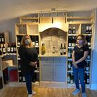 Manager Haley Turner with daughter Melissa in the Coachmakers' new wine boutique