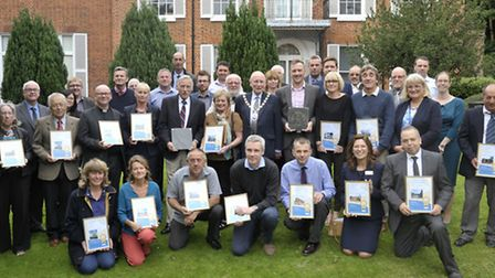 Winners of Broadland District Council's Design and Enhancement Awards. Pictured: All of those awarde
