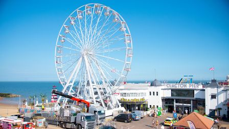 A new observation wheel has arrived on Clacton Pier ready for the summer. Picture: Sarah Lucy Brown