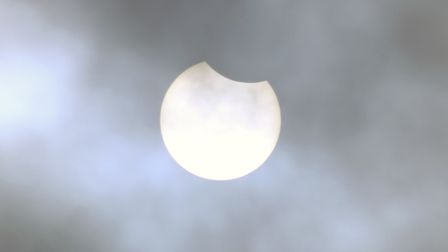 The next partial solar eclipse is expected next October
