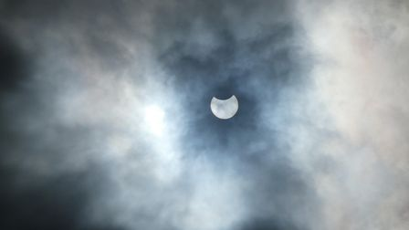 A picture of the partial eclipse from Kesgrave
