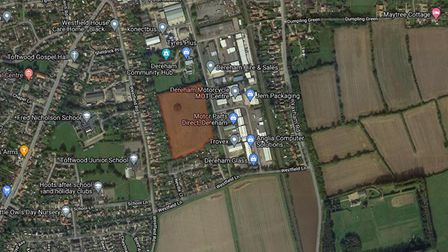 The Foxley Park development is to be built on land betweenWestfield Road andRash's Green in Derheam.