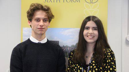 Ben Lowe and Aimee Sharp have been praised for their attendance records at Thomas Gainsborough School