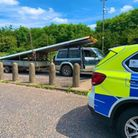 Van stopped on A1 by police