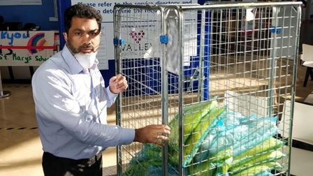 BEM in Queen's Honours for Wazid Hussan... pictureddelivering food to hospitals during Covid emergency