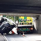 The van hitStuntneyBridge in Ely, nicknamed Britain's Most Bashed Bridge, at around 8.40am this morning (June 11).