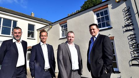 New owners of Dragon House, Unthank Road. Left to right, Mike Kenny, Neil Frost, Chris Hilton and Na