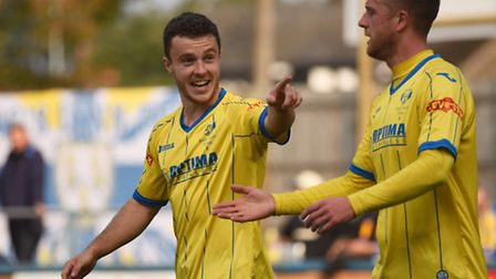 Sam Mulready made his point with a two-goal display for the Linnets. Picture: IAN BURT