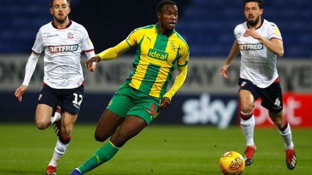 West Bromwich Albion's Rekeem Harper during the Sky Bet Championship match at the University of Bolt