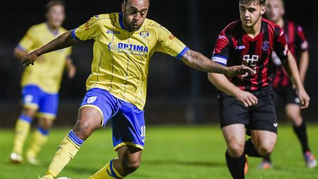 Jake Speight, left, is no longer a King's Lynn Town player. Picture: MATTHEW USHER