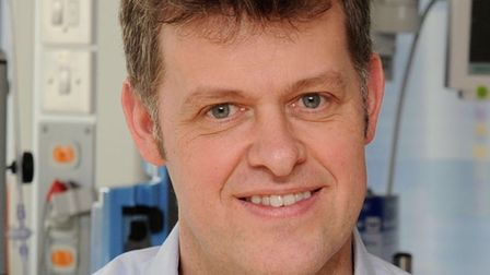 Dr Peter Young, QEH consultant, who was part of the team that designed the SAFIRA device.