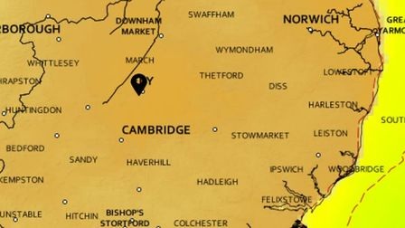Scorching weather is set for Cambridgeshire from tomorrow